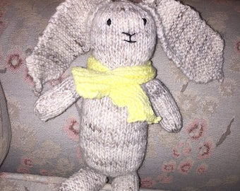 Hand knitted bunny rabbit.