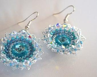 """Winter lace """"earrings"""