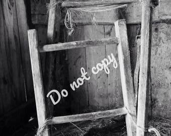 Antique barn ladder photo - digital download