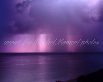 Lightning - Lightning Bolts - Thunder - Storm - Thunderstorm - Nature - Digital Photo - Digital Download - Beach - Water - Rain - Florida