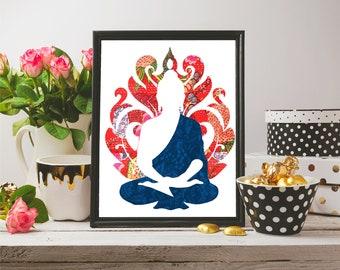 Buddha Painting, Buddha Wall Art, Buddha Decoration, Digital Print, Buddha Print, Buddha Home Decor, Wall Art, Bedroom Decor, Decor