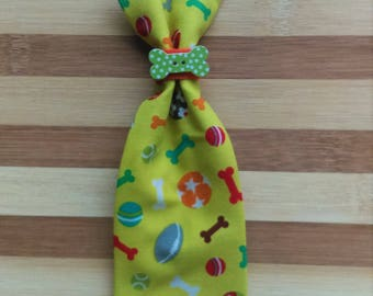 LARGE Pet Tie Lime with Bone - Slip Through Collar