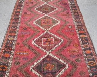 Oushak Rug,Turkish Vintage Rug,Anatolian Wool Rugs,Home decoratıve Rugs,Home Living,4'6''x6'10''feet,Pastel  Colors,Area Rug,Floor Rugs
