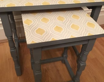 Pair of matching retro style tables