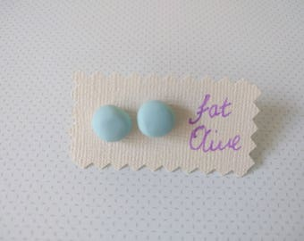 Pale Sky blue Clay stud earrings jewellery