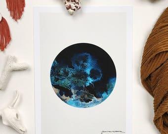 Ocean Moon Print