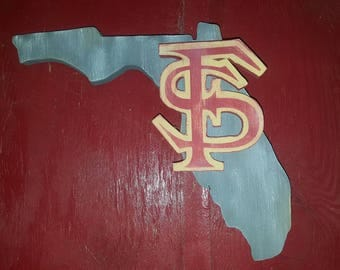 Wooden Florida State Sign