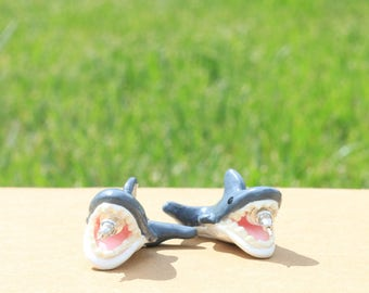 Jaws Inspired Earrings