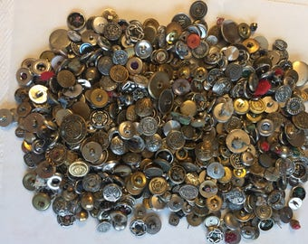 Huge button assortment - 2 lbs. - many vintage - mostly metal