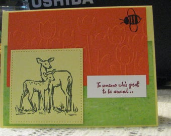 Greeting card to personalize for your own occasion 4 1/4 by 5 1/2 with envelop.