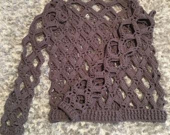 Mesh crochet sweater