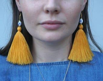 Tassel Earrings - Bumble Bees