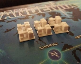Pandemie Brettspiel, 3D gedruckt Forschung Zentrum Token