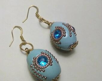Blue Jewel Treasure Earrings
