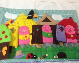 busy case three little pigs