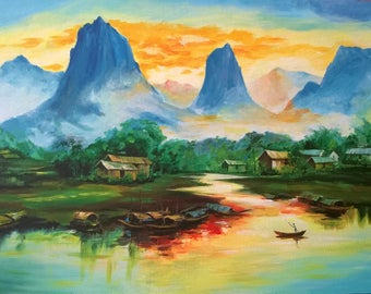 Harmony with nature reproduction painting