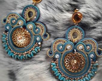 Tribal earrings soutache