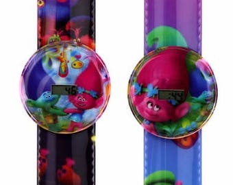 Trolls Slap Snap Kids Digital Watch Childrens Film