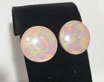1980's   Vintage Pink Earrings