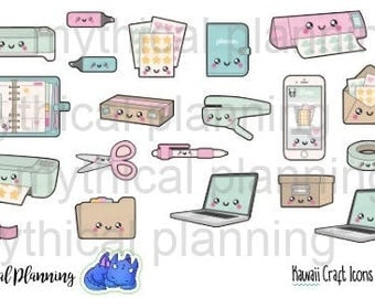 Kawaii Office Stationary Craft Planner Stickers