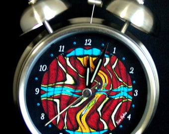 """Silver Bell Alarm Clock """"Red Swerve"""""""