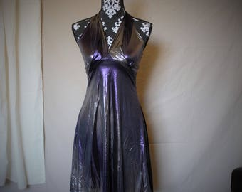 Purple shimmer evening dress