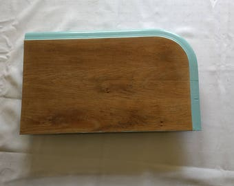 Original cutting board of antique oak tabletop.