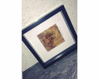Admit two ticket collecting shadow box frame