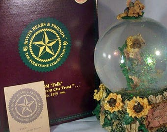 FREE Shipping, Boyds Resin/musical/globe, NEW, Liddy Pearl...How Does Your Garden grow, #270602, Price REDUCED!, 98 Ltd Ed