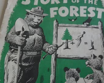 Smokey Bear's Story of the Forest 1957, 12 page booklet for children