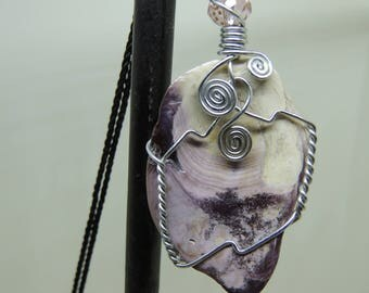 Wire Wrapped Wampum shell