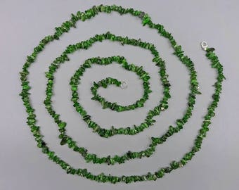 "60"" Chrome Diopside Necklace."