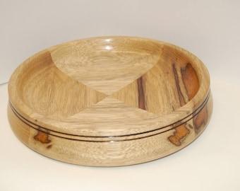 Shallow Black Limba Bowl