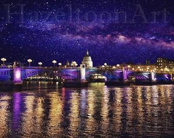 Digital Art - Bridge Beneath the Stars