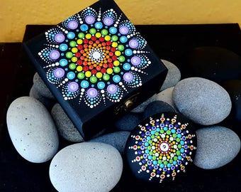 BarbaraMandalaTFS#31  Mandala Multicolor Jewellery Box#Summer 2017