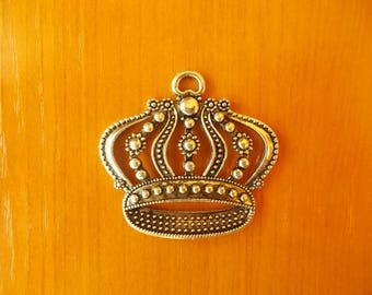 crown, necklace crown, necklace crown charm, materials for jewelry,
