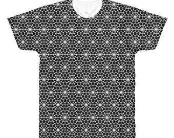 Sacred Geometry T-Shirt - Sublimated Top - Unique Crop Top - Festival Clothing -Sacred Geometry Clothing