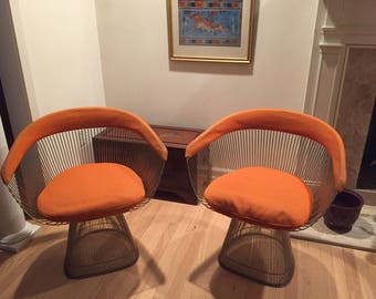 Warren Platner Dining Room Chairs for Knoll (Set of 2) - mid 20th Century