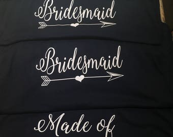 Bridal Shirts any color tank and writing you want and only 1.50 SHIPPING