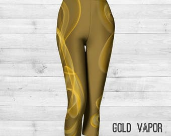 Gold Vapor Capri Pants