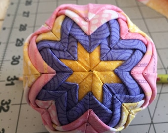 Purple and Pinks Quilted Ornament