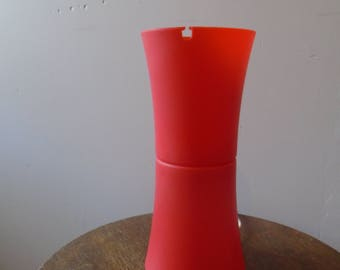 Orange plastic lamp from the 70s