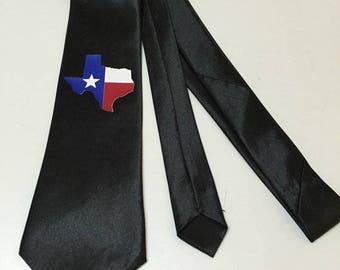 Texas Map Necktie