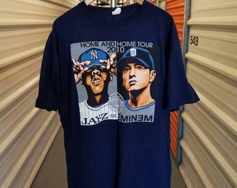 2010 Hip-Hop Jay-Z/Eminem Home & Home Concert Tour T-Shirt. Men's Size XL.