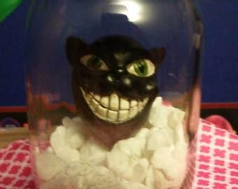 black cat mason jar decor creepy cute halloween