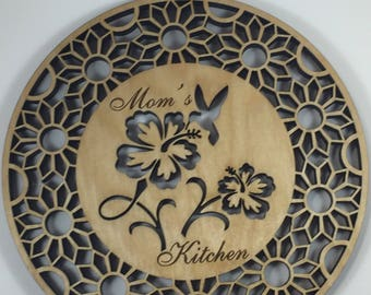 Mom's Kitchen Hummingbird Decoration