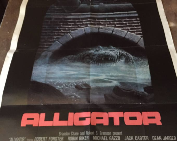 ALLIGATOR ONE SHEET Folded Original U.S. Movie Poster (Robert Forster)
