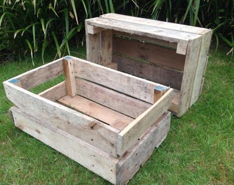 Strong rustic wooden crate