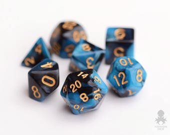 Dice Set for Dungeons & Dragons, DnD, RPG Games, Polyhedral Dice | Sapphire Raven (KD0002)