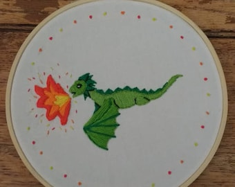 Dragon Embroidery (Brain Tumour Charity)